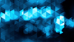 graphic blue animation with triangles and encrusted flashes in bokeh Animation