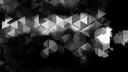 graphic black and white animation with triangles and flashes of light in bokeh Animation