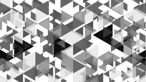 Simple Graphic Animation With Growing Gray Triangles - Full Hd stock footage