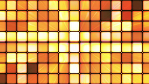 Broadcast Twinkling Hi-Tech Cubes, Orange, Abstract, Loopable, HD Animation