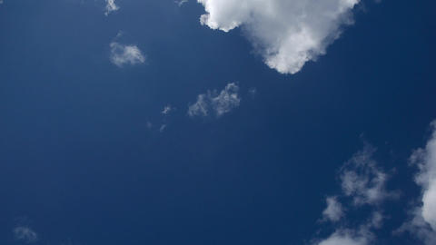 Big white clouds in blue sky - timelapse of cumulus - Full HD Footage