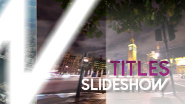 Titles Slideshow - Apple Motion and Final Cut Pro X Template Apple Motionテンプレート
