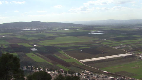 Galileo. View from Mount Tabor. The hang-glider Footage