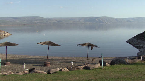 Lake Galilee. Beach Footage