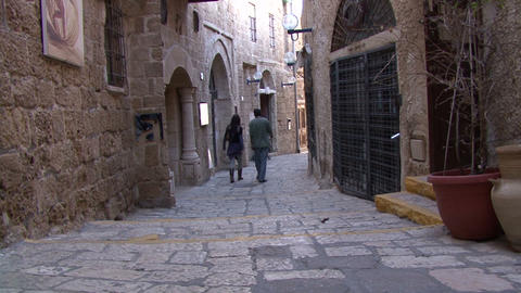 Jaffa. The streets of the old town Footage
