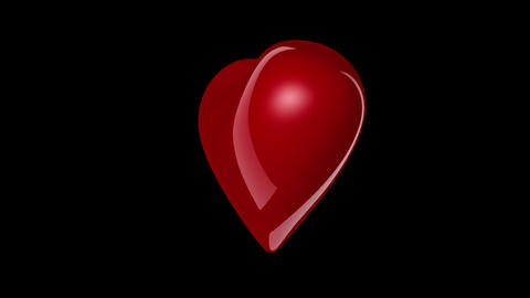 Full HD Heart For Custom Particles stock footage
