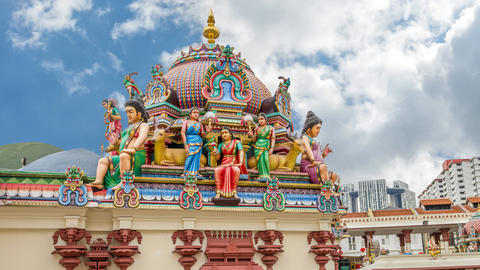 Temple Singapore Footage