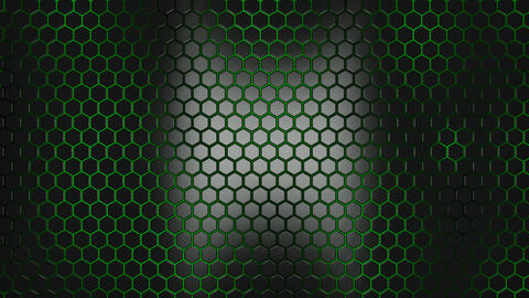 3d alive texture of a honeycomb Animation