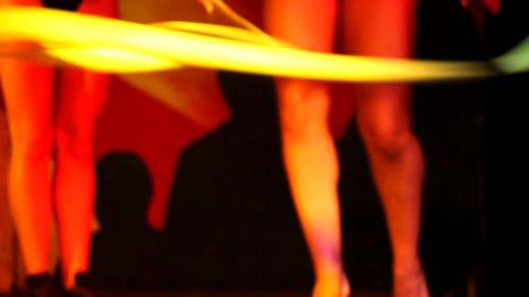 Dancing woman legs Footage