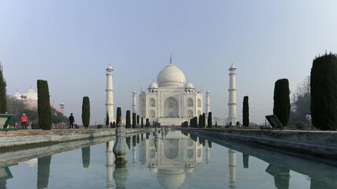 Time Lapse of Taj mahal at Agra A UNESCO World Heritage Site, A monument of Love Footage