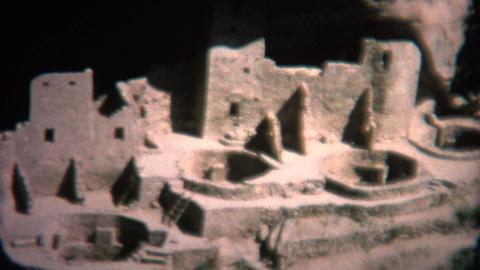 (8mm Vintage) 1966 Mesa Verde Pueblo Colorado, USA Footage
