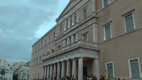 protest demonstration against austerity Greece Live Action