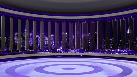 News TV Studio Set 76 - Virtual Background Loop Footage