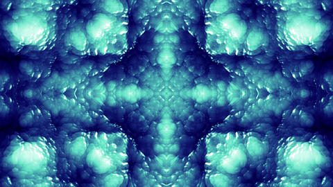 4 K Glassy Abstract Kaleida Style Looping Background Animation 15 blue 1 Animation