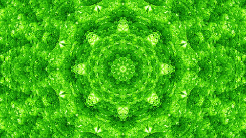 4 K Glassy Abstract Kaleida Style Looping Background Animation 21 green Animation