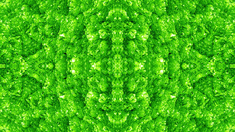 4 K Glassy Abstract Kaleida Style Looping Background Animation 27 green Animation