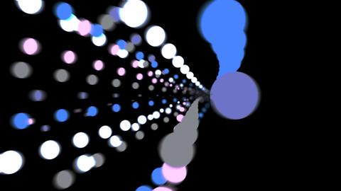 Explode Implode Dot Tunnel Black BG Glow 4K Pro Res Animation