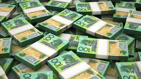 Stack of Australian Dollar Animation