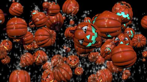 Splash Halloween Punpkin #1 stock footage