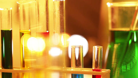 Laboratory CSI 63 focus change Stock Video Footage