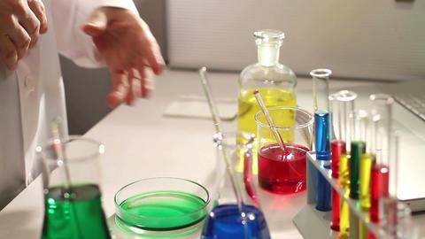 Laboratory CSI 73 investigating Stock Video Footage
