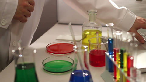Laboratory CSI 75 investigating Stock Video Footage