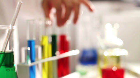 Laboratory CSI 89 investigating dolly Stock Video Footage