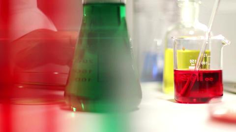Laboratory CSI 91 investigating dolly Stock Video Footage