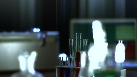 Laboratory CSI 115 dolly stylized Stock Video Footage