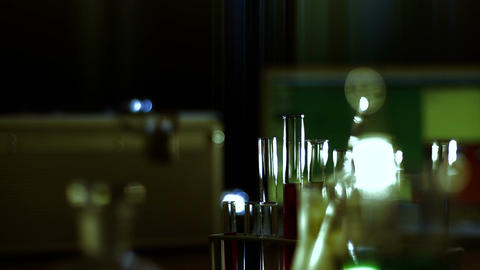 Laboratory CSI 117 dolly stylized Stock Video Footage
