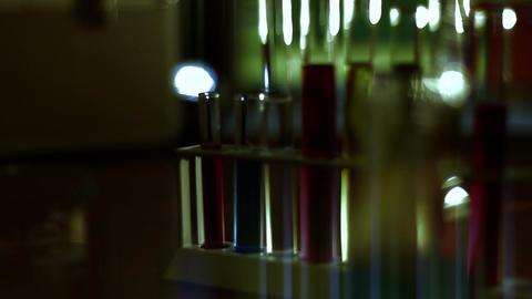 Laboratory CSI 119 dolly stylized Stock Video Footage