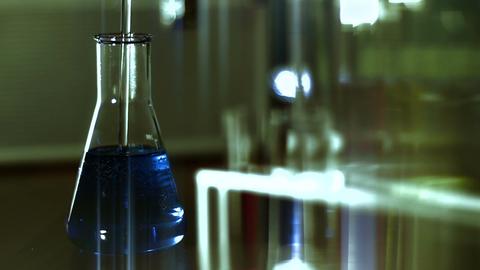Laboratory CSI 121 dolly stylized Stock Video Footage