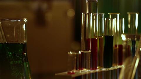 Laboratory CSI 133 dolly stylized Stock Video Footage