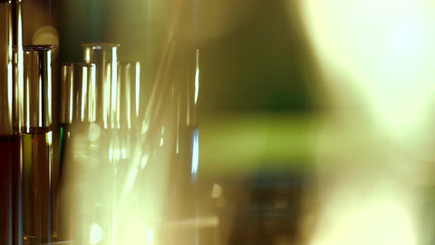 Laboratory CSI 135 dolly stylized Stock Video Footage