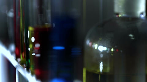 Laboratory CSI 155 dolly stylized Stock Video Footage