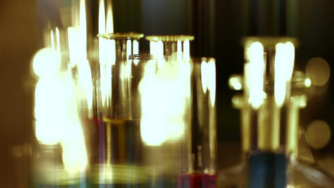 Laboratory CSI 159 focus change stylized Stock Video Footage