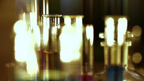 Laboratory CSI 159 focus change stylized Stock Video Footage