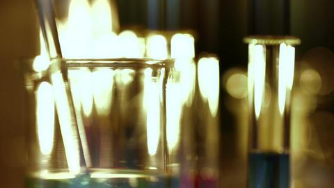 Laboratory CSI 161 focus change stylized Stock Video Footage