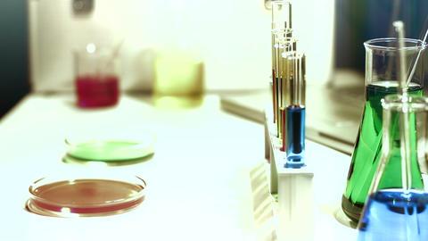 Laboratory CSI 163 dolly stylized Footage