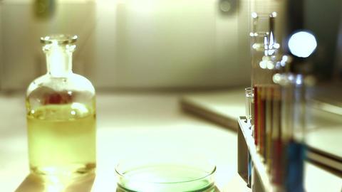 Laboratory CSI 165 dolly stylized Stock Video Footage
