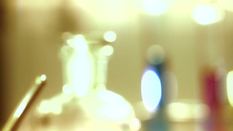 Laboratory CSI 177 focus change stylized Stock Video Footage