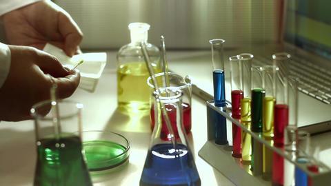Laboratory CSI 181 investigating stylized Stock Video Footage