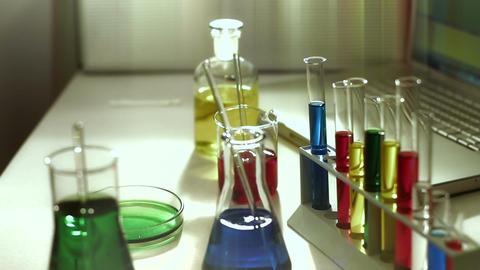 Laboratory CSI 183 investigating stylized Stock Video Footage