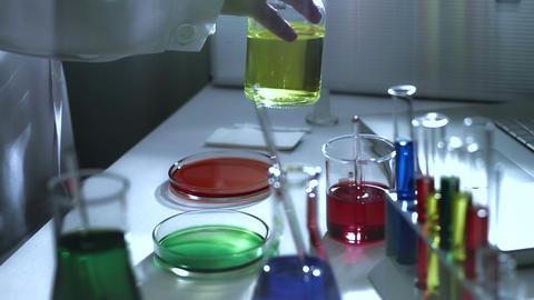 Laboratory CSI 187 investigating stylized Footage