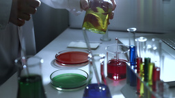Laboratory CSI 187 investigating stylized Stock Video Footage