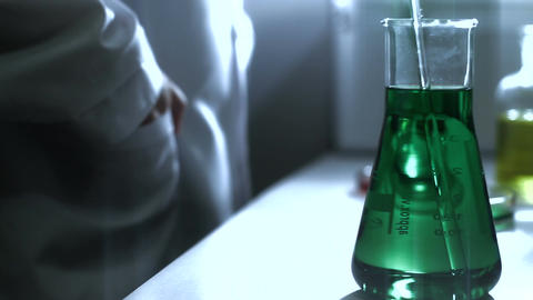 Laboratory CSI 189 investigating dolly stylized Stock Video Footage