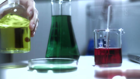 Laboratory CSI 205 investigating stylized Stock Video Footage