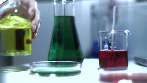 Laboratory CSI 205 investigating stylized Stock Video Footage