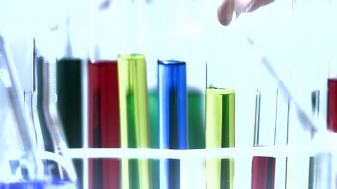 Laboratory CSI 207 investigating stylized Stock Video Footage