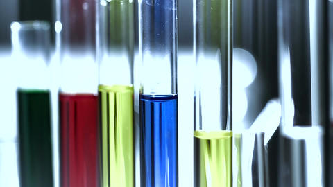 Laboratory CSI 215 investigating stylized Stock Video Footage